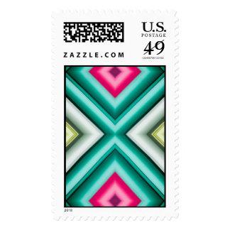 La simetría de papel 2 tejó el modelo sellos