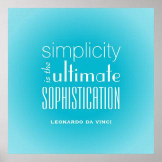La simplicidad es la última cita de la impresiones