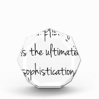 La simplicidad es la última sofisticación