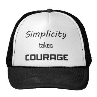 La simplicidad es valor gorro de camionero
