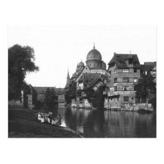 La sinagoga en Nuremberg, c.1910 Postales