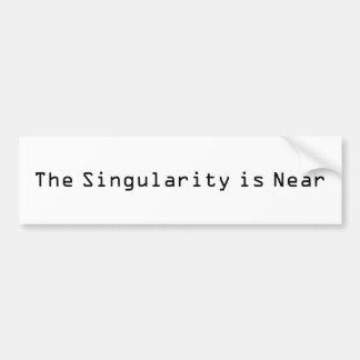 La singularidad está cerca pegatina de parachoque