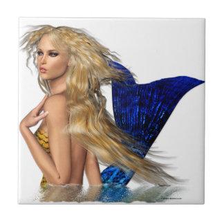 La sirena azulejo cuadrado pequeño