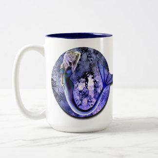 La sirena de la bruja del mar asalta 3 taza de café