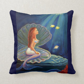 La sirena de la cubierta - almohada de tiro