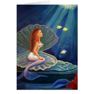 La sirena de la cubierta - tarjeta de felicitación