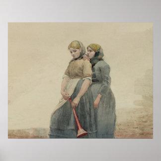 La sirena de niebla, 1883 (w/c) póster