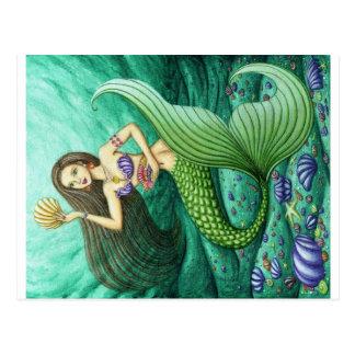 La sirena del colector del Seashell Tarjetas Postales