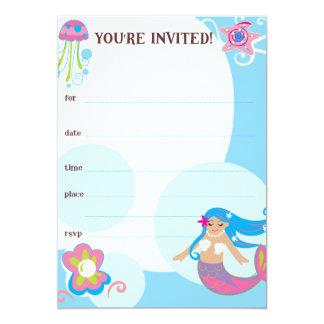 """La sirena invita invitación 5"""" x 7"""""""