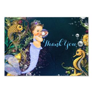 """La sirena le agradece las tarjetas invitación 3.5"""" x 5"""""""