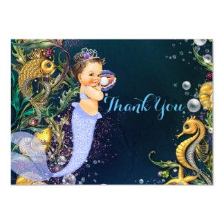 """La sirena le agradece las tarjetas invitación 4.5"""" x 6.25"""""""