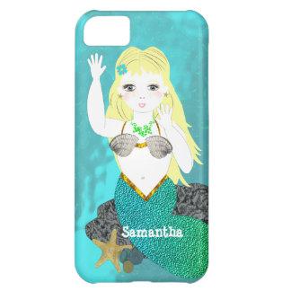 La sirena linda caprichosa personalizó la caja del funda para iPhone 5C
