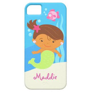La sirena linda del chica iPhone 5 fundas