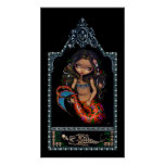 La Sirena mermaid day of the dead Art Print