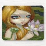 """La """"sirena que escoge Lotus florece"""" Mousepad Alfombrillas De Raton"""