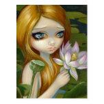 """La """"sirena que escoge Lotus florece"""" postal"""