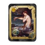 La sirena Steampunk - imán del rectángulo