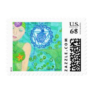 La Sirena Throat Chakra Stamp