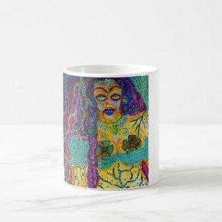 """""""La Sirene"""" Mermaid Yemaya Acrylic Painting Coffee Mug"""