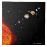 La Sistema Solar 2 Azulejo Cuadrado Grande