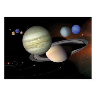 La Sistema Solar calendario de 2012 bolsillos Plantillas De Tarjeta De Negocio