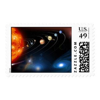 La Sistema Solar y más allá Sello Postal