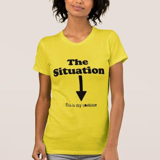 La situación (camisa de la elevación) tee shirts