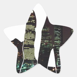 LA skyline hands Star Sticker