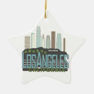 LA Skyline Vintage Christmas Ornaments