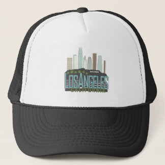 LA Skyline Vintage Trucker Hat