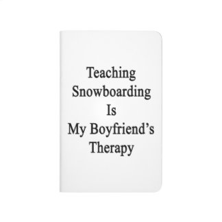 La snowboard de enseñanza es la terapia de mi novi cuaderno grapado