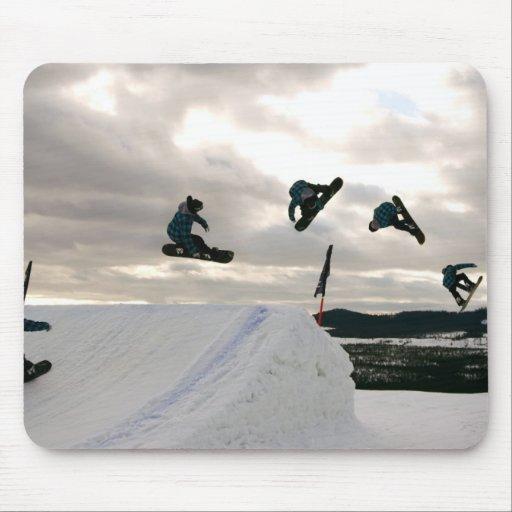 La snowboard engaña el cojín de ratón alfombrilla de ratones