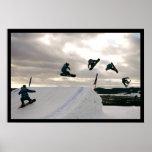 La snowboard engaña el poster