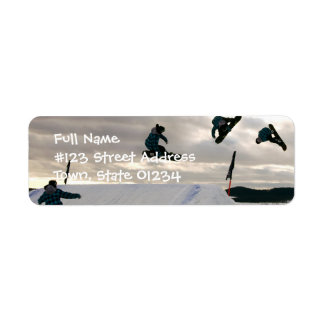 La snowboard engaña la etiqueta del remite etiqueta de remite