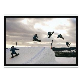 La snowboard engaña la invitación