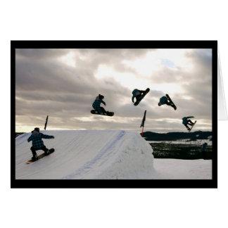 La snowboard engaña la tarjeta de felicitación