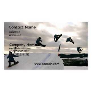La snowboard engaña la tarjeta de visita