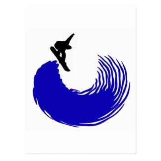 La snowboard lanzó Ya Tarjeta Postal
