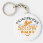 La snowboard más fresca de los chicas llaveros
