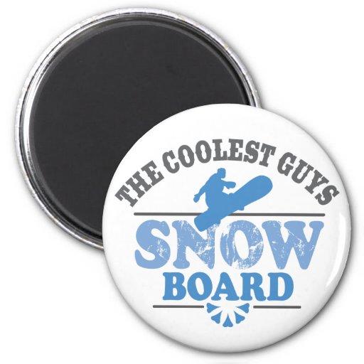 La snowboard más fresca de los individuos iman para frigorífico