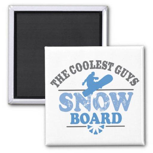 La snowboard más fresca de los individuos imán de frigorifico