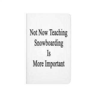 La snowboard no ahora de enseñanza es más cuadernos grapados