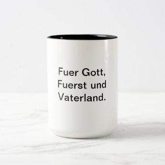 La soberanía nacional debe permanecer para Liechte Tazas De Café