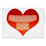 La sobrina del bombero felicitación