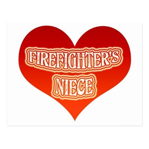 La sobrina del bombero tarjeta postal