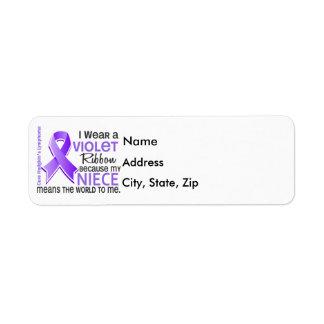 La sobrina significa el mundo a mí linfoma de 2 H Etiqueta De Remite