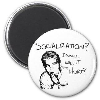 ¿La socialización dañará? Imán Redondo 5 Cm