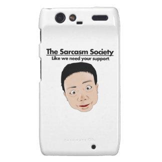 La sociedad del sarcasmo motorola droid RAZR carcasa