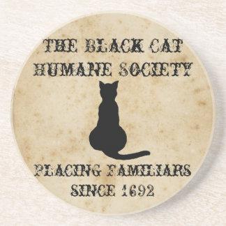 La sociedad humana del gato negro posavasos personalizados