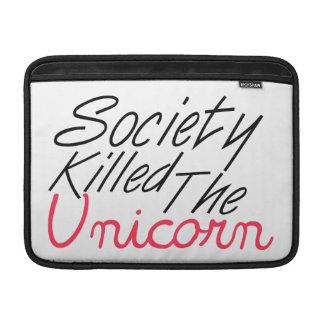La sociedad mató al unicornio funda macbook air